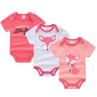 Cheap Short Sleeve Newborn Baby Girl Clothes Gift Sets With Envelope Neck Cartoon for sale