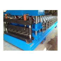 China 0.3-0.8mm PPGI Galazed Tile Roof Panel Roll Forming Machine Cut to length Hudraulic cutting on sale