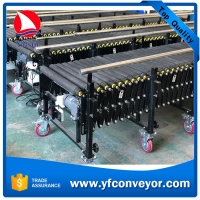 China Expandable Motorized Rubber coated Flexible Roller Conveyor on sale
