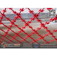 Best Red Powder Coated Welded Razor Mesh Fencing 75X150mm Rhombus Hole | 1.8m height | 6m width wholesale
