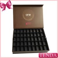 China Modern Printed Colorful Brown Black Rigid Cardboard Chipboard Paper Jewelry Display Trays with Dividers Compartments Dra on sale