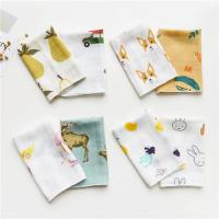 Best Cute Animal Pattern Baby Muslin Handkerchief Cloth Custom Printing wholesale