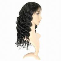 Best Fashionable Full Swiss Lace Wig, Deep Body Wave in 1b# Color, Various Colors/Styles are Available wholesale