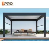 Best Waterproof Automatic Aluminium Opening Louvre Roof Pergola With Side Screens wholesale