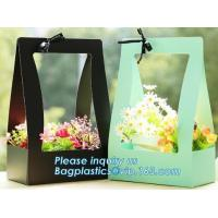 China Fashion Design Flat Paper Handle Paper Gift Bag Flower Carrier Bag,nice style flowers printing paper carrier bag, bageas on sale