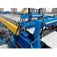 Best Color Steel Roof Tile Roll Forming Machine 7.5KW Driving Motor For Construction wholesale