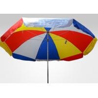 China Rainbow Large Outdoor Parasol Umbrella With Heat Transfer Printing , Polyester Fabric on sale