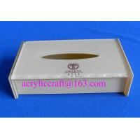 Best High quality white acrylic tissue holder promotional napkin box made in China wholesale