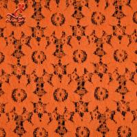 Best Soft Fancy Burnt Orange Embroidered Lace Fabric For Saree Clothes wholesale