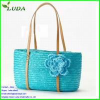 Details Of Straw Bags Leather Handle 103448512