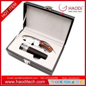 China 2pcs Set Wine Bottle Opener Kit Knife Corkscrew Stopper Gift Box Bar New in Box on sale