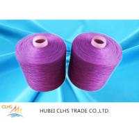 Cheap Multi Color Knotless Dyed Polyester Yarn 40 / 2 40 / 3 100% Polyester Spun Yarn for sale