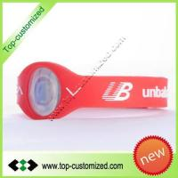 China Custom power balance bracelet on sale
