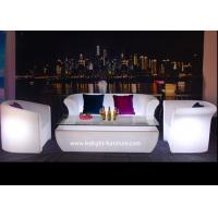 Best Night Club Plastic LED Light Furniture Glow Sofa With RGB Colors Changing wholesale
