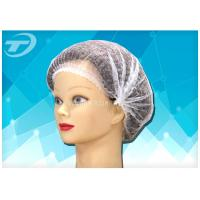 China Disposable non-woven  clip cap 20  , single elastic , made from SPP fabric on sale