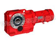 China K37 spiral bevel gear reducer/Helical Geeared Motor-Wuhan SUPROR Transmission on sale