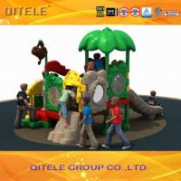 China Outdoor Children Playground Equipment With Multi Slides LLDPE on sale