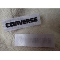 China Converse 3D Silicone Logo Patches Black Soft For Clothing Neck Label on sale