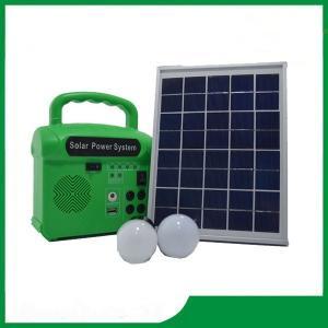China Mini solar energy lighting kits, solar power portable electricity generator 6V / 7AH 10w for home lighting on sale
