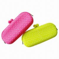 Best Eyeglass Bags with Colorful Printing on Silicone Furface, Any Printing Designs Available, CPSIA Mark wholesale