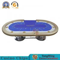 Best Custom Professional Casino Poker Table  MDF + Wood + PU Material Durable wholesale