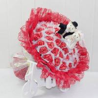 China Teddy Bear Wedding Plush Bouquet on sale