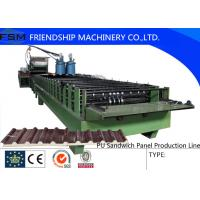 Best Automatic Continuous PU Sandwich Panel Machinery With Non-stop Cutting Device wholesale