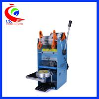 Best Small Coffee Shop Equipment , Manual Plastic Fruit Jelly Cup Sealing Machine wholesale