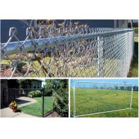 China Grassland Use Wire Mesh Fence / Chain Link Fence Green Pvc Coated 1.2m Height on sale