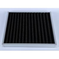 Best High Efficiency G4 V Bank Z-line Panel Air Filter , Activated Carbon Media wholesale