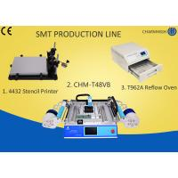 Buy cheap 4432 Stencil Printer + Chmt48vb Table Top Pick And Place + T962A Reflow Oven , small Smt Line product