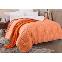 Best Pinted Stripe Microfiber Quilt Comforter Piping Frame Cutting Through wholesale