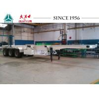 Cheap 50000 Kgs Payload Skeletal Container Trailer 40 FT Tri Axle With Fuwa Suspension for sale