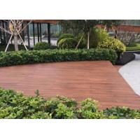 Best Fire Resistant Outdoor Wood Tile , Wood Deck Tiles Non Deformation For Boat wholesale