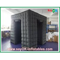 Best Versatile Black Inflatable Photo Booth With Two Doors Fire-resistant Cloth wholesale