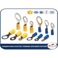 China Brass / Copper Insulated Crimp Wire Ring Terminal 22 - 16 AWG High Conductivity on sale
