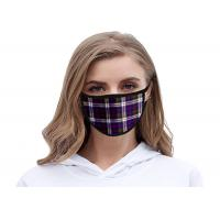 Buy cheap Reusable Cloth Surgical Protective Mask Soft Cotton Outdoor Plaid Print Dust from wholesalers