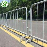 China Traffic management metal fences panels security portable barricades price on sale