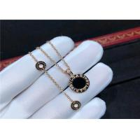 Best  18K Gold Diamond Necklace Simple Design For Girlfriend / Wife wholesale