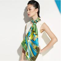China OEM Unique Chiffon Plain Heat Transfer Printing Soft Ladies Neck Scarves for Warmth wholesale