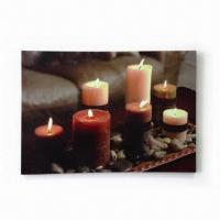 Best Candle Motif LED Canvas Frame with On/Off One Side Switch wholesale