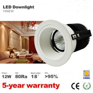 Best 10W 12W LED Downlight Recessed Ceiling light  Spotlight 75mm hole CREE COB LED light wholesale