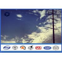 China HDG Steel Q345 Gr50 Electrical power Tubular pole , Sub Transmission Pole with Min Zinc Coating 86 microns on sale