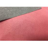 Best High Peeling Strength Shoes Synthetic Leather Dark Red 0.55 Mm Thickness No Fading wholesale