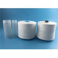 China 40/2 40/3 spun polyester spun yarn on recycled dye tube natural white or optical white on sale