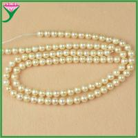Best cheap wholesale 8mm white round AAA loose real natural fresh water pearl string wholesale