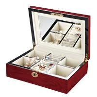 Best Red Jewelry Wooden Storage Boxes with Special Paper, Tactility Paper, Fancy Paper Outside wholesale