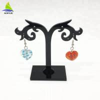 Best Elegant Acrylic Jewelry Display Black Tree Acrylic Earring Display Stand Holder Rack wholesale