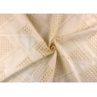 China Allover Embroidered Eyelet Cotton Lace Fabric For Wedding Dresses With Hollowed Circle on sale