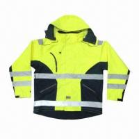 China 3-in-1 Worker's Reflective Safety Hi-Vi Waterproof Jacket in Yellow, EN471 Standard on sale